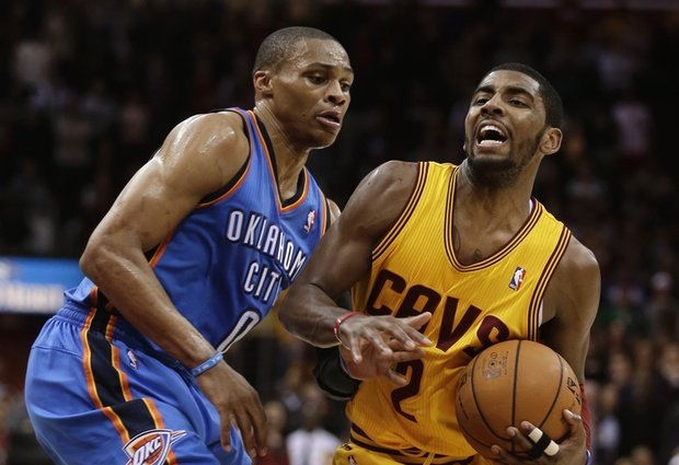 thunder vs cavs russell westbrook kyrie irving