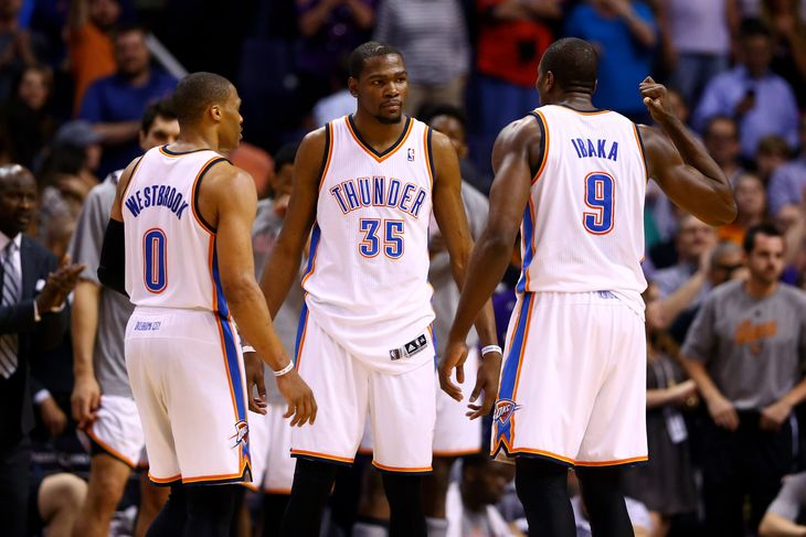 serge ibaka kevin durant russell westbrook